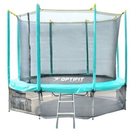 Каркасный батут Optifit Like 12ft 366х366х268 см зеленый