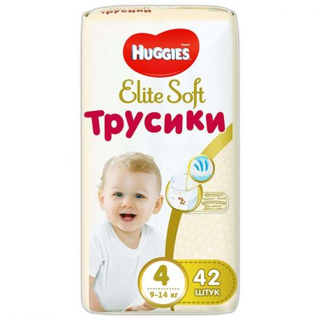 Трусики Huggies Elite Soft 4 (9-14 кг) 42 шт