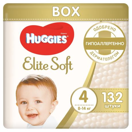 Подгузники Huggies Elite Soft 4 (8-14 кг) 132 шт