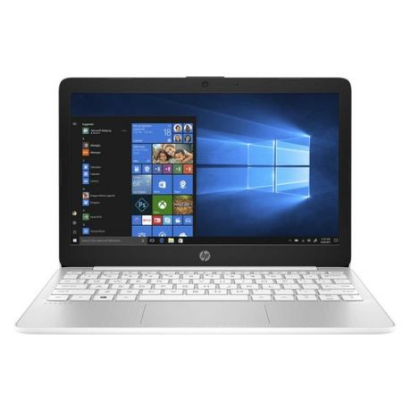 "Ноутбук HP 11-ak0000ur, 11.6"", Intel Celeron N4000 1.1ГГц, 4Гб, 64Гб eMMC, Intel UHD Graphics 600, Windows 10, 8PJ72EA, белый"