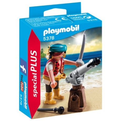 Набор с элементами конструктора Playmobil Special Plus 5378 Пират с пушкой