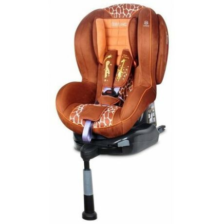 Автокресло группа 1/2 (9-25 кг) Welldon Royal Baby SideArmor & CuddleMe IsoFix, Giraffe Talk