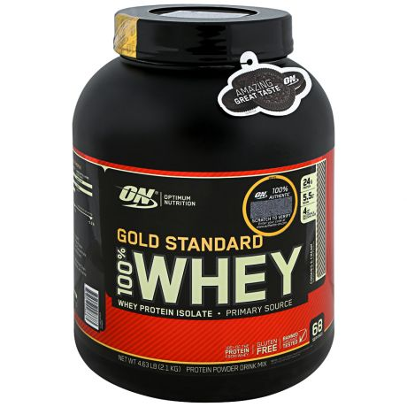 Протеин Optimum Nutrition Gold Standard 100% Whey печенье и крем 2,3кг