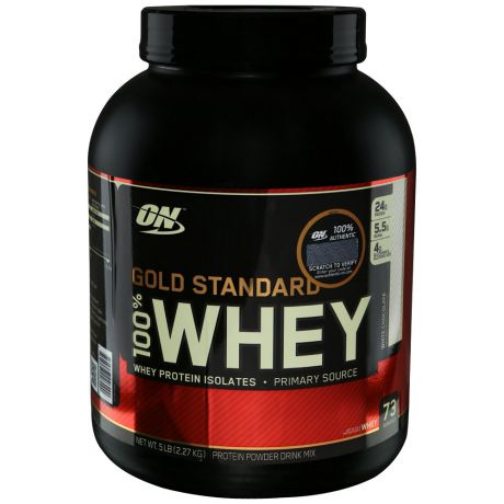 Протеин Optimum Nutrition Gold Standard 100% Whey белый шоколад 2,3кг