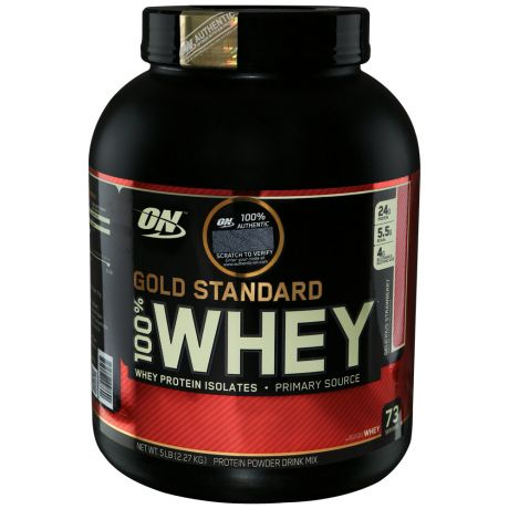 Протеин Optimum Nutrition Gold Standard 100% Whey клубника 2,3кг