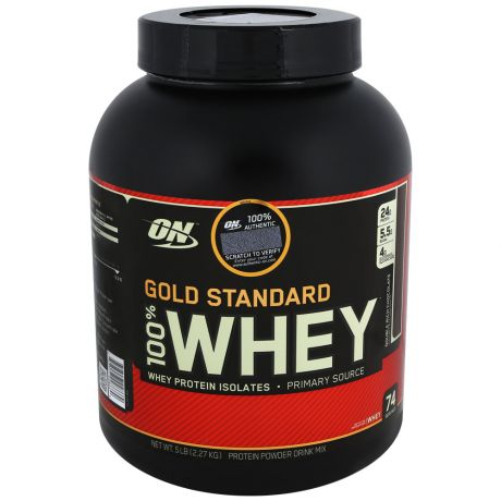 Протеин Optimum Nutrition gold standard 100% whey 2,3 кг двойной шоколад