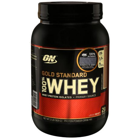 Протеин Optimum Nutrition Gold Standard 100% Whey мокка-капуччино 0,9кг
