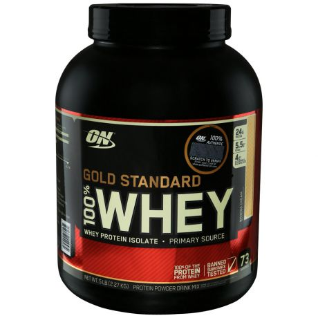 Протеин Optimum Nutrition Gold Standard 100% Whey банановый крем 2,3кг