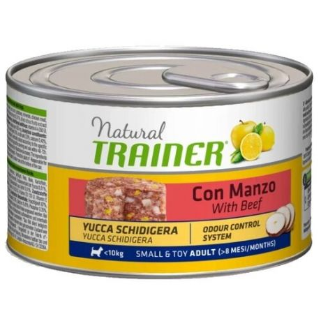 Корм для собак TRAINER (0.15 кг) 1 шт. Natural Adult Small&Toy Beef canned
