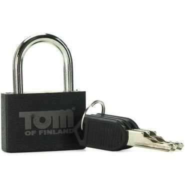 Замок Tom of Finland Metal Lock - серебристый