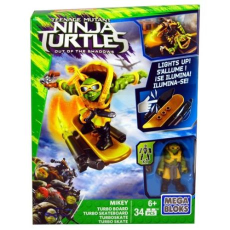 Конструктор Mega Bloks Teenage Mutant Ninja Turtles DPF76 Турбо-доска