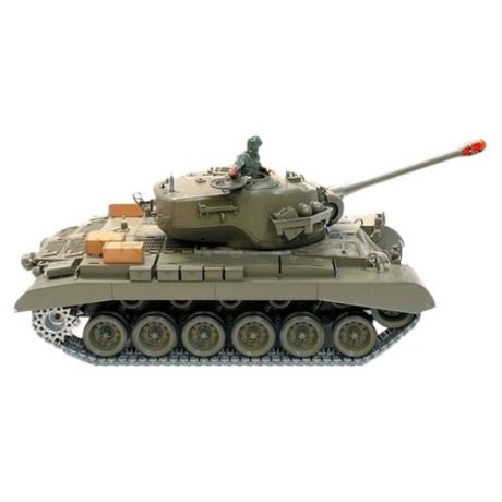 Танк Heng Long M26 Pershing Snow Leopard (3838-1) 1:16 53.5 см зеленый