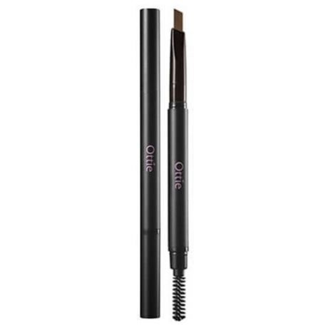Ottie карандаш Natural Drawing Eye Brow Pencil, оттенок #02 Dark Brown