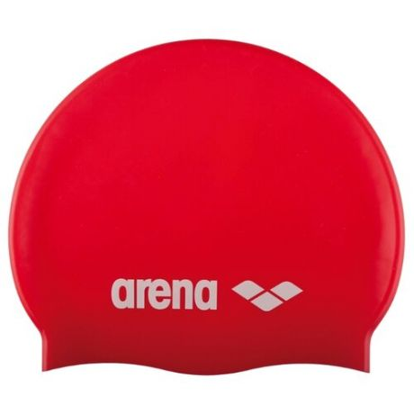 Шапочка для плавания arena Classic Silicone Jr 91670 red/white