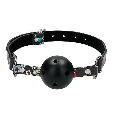 Кляп Breatheable Ball Gag Old School Tattoo Style