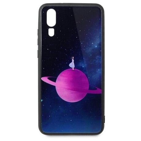 Чехол-накладка Pastila Force print glass для Huawei P20 saturn
