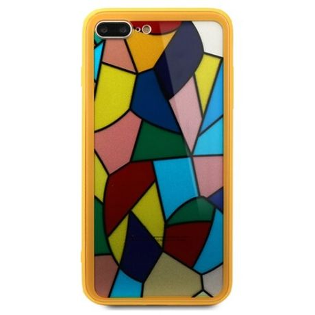 Чехол-накладка Pastila Mosaic glass для Apple iPhone 7 Plus/iPhone 8 Plus желтый