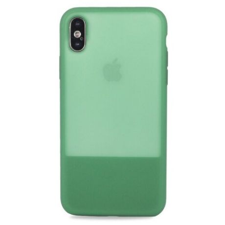Чехол-накладка Pastila Clear Silicone Case для Apple iPhone X/Xs зеленый