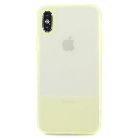 Чехол-накладка Pastila Clear Silicone Case для Apple iPhone X/Xs желтый