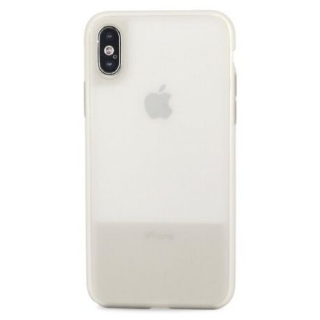 Чехол-накладка Pastila Clear Silicone Case для Apple iPhone X/Xs серый