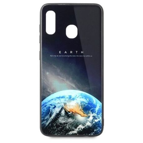 Чехол-накладка Pastila Force print glass для Samsung Galaxy A20/Galaxy A30 earth