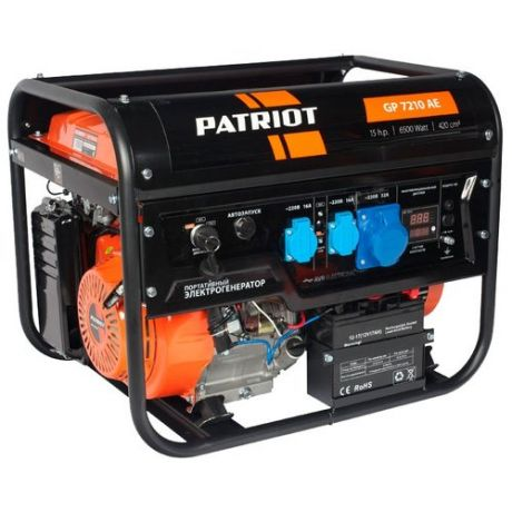 Бензиновый генератор PATRIOT GP 7210AE (6000 Вт)