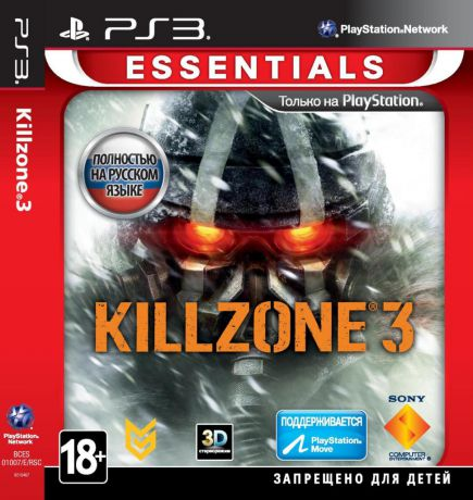 Sony CEE Killzone 3 (Essentials,поддержка Move,3D,Рус.версия)