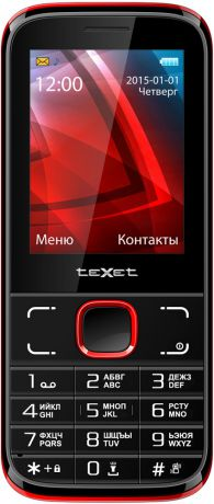 teXet TM-D226 Dual Sim Red Black