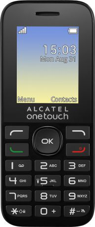 Alcatel One Touch 1016D Dual Sim Black