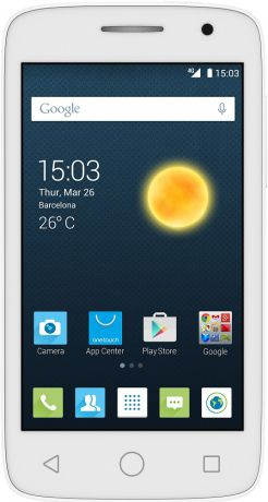 Alcatel One Touch POP 2 (4) 4045D Dual SIM LTE White