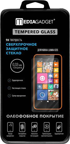 MediaGadget Стекло защитное Tempered Glass Nokia Lumia 635
