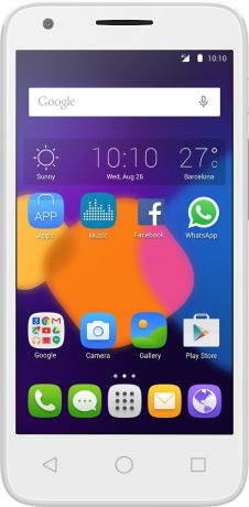 Alcatel One Touch 5019D PIXI 3 (4,5) LTE Dual sim White