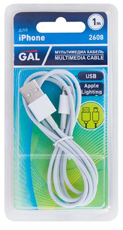 Gal USB Дата-кабель Gal 2608 Apple Lightning