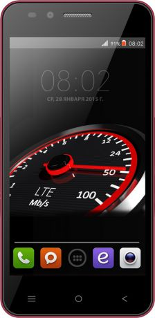 Bright&Quick BQS-4555 Turbo Dual Sim LTE Red