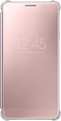 Samsung EF-ZA710CZEGRU для Galaxy A7 2016 Clear View Pink Gold