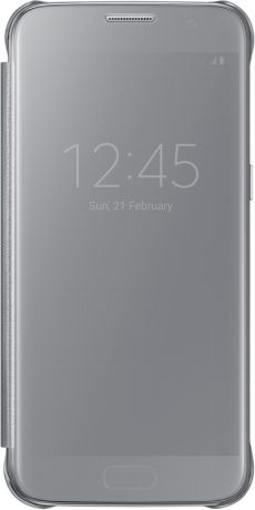 Samsung Clear View Cover для Galaxy S7 Silver EF-ZG930C