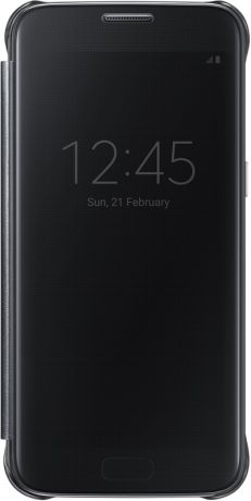 Samsung Clear View Cover для Galaxy S7 Black EF-ZG930C