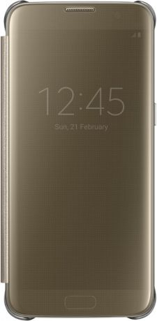Samsung Clear View Cover для Galaxy S7 Edge Gold EF-ZG935C