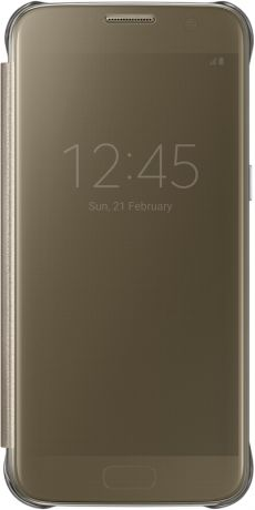 Samsung Clear View Cover для Galaxy S7 Gold EF-ZG930C
