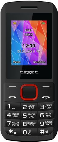 teXet ТМ-126 Dual sim Red Black