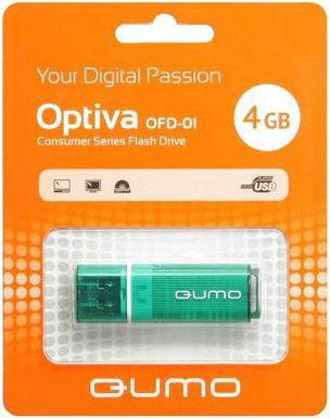 Qumo 4Gb USB 2.0 Optiva 01 Green