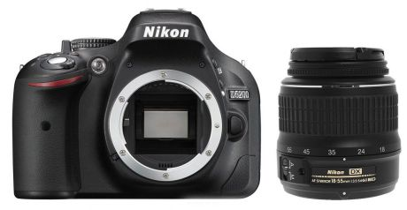 Фотоаппарат Nikon D5200 Kit (D5200 Body Black + 18-55 ED II Black)
