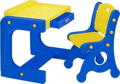 Haenim Toy DS-904 - стол и стул (Yellow/Blue)