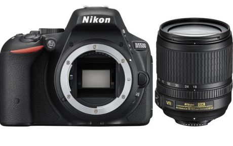 Фотоаппарат Nikon D5500 Kit (D5500 Body Black + 18-105 VR Black)