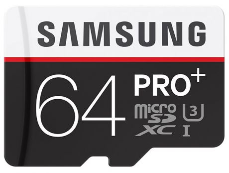 Карта памяти Samsung microSDXC PRO Plus 64 Gb 90MB/s + SD adapter