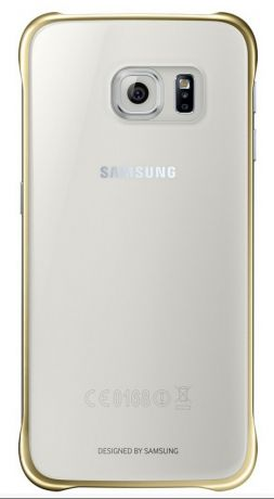 Чехол Samsung Clear Cover для Galaxy S6 (Золотой) EF-QG920BFEGRU