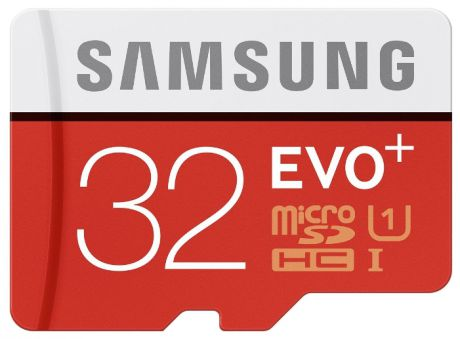 Карта памяти Samsung microSDHC EVO PLUS 32Gb +SD adapter
