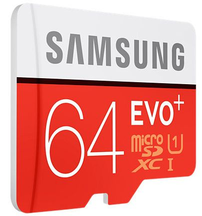 Карта памяти Samsung microSDHC EVO PLUS 64Gb +SD adapter