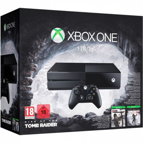 Игровая приставка Xbox One 1 TB (KF7-00032) + код Rise of the Tomb Raider + код Tomb Raider Definitive Edition