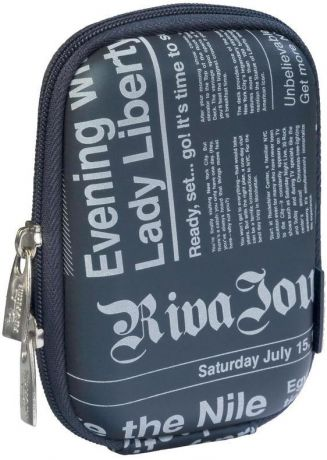 Rivacase 7023 PU Digital Case Dark Blue (Newspaper)